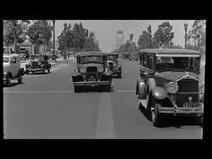 This is so cool!  A Drive Down Wilshire Blvd in Beverly Hills in 1935