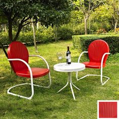 Crosley Furniture 3-Piece Griffith Multicolor Steel Patio Conversation Set