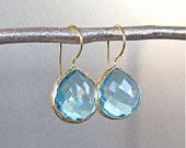 One of my favorite pairs of earrings. Serenity Stone Drops in Aqua. stella & dot. www.stelladot.com/cmossburg