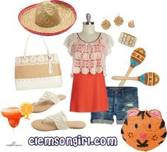 Clemson Gameday Look - Cinco de Mayo! Clemson Tigers, American Eagle Outfitters Shorts, Orange, Happy, Sports, Closet, Outfits, Fashion, Cinco De Mayo
