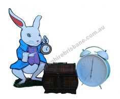 White Rabbit - Props available for hire from Party Prop Hire