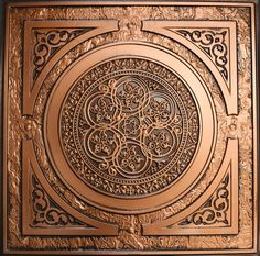 "Decorative Ceiling Tiles, Inc. Store - Steampunk - Faux Tin Ceiling Tile - 24""x24"" -"