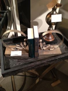Bookends by Uttermost Furniture. // www.KeyHomeFurnishings.com in Portland, Or
