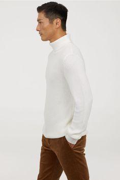 Alion Mens Business Long Sleeve Turtleneck Ribbed Hem Pullover Sweater
