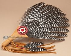 """Native American Sage Prayers   Native American Beaded Indian Smudging Fan 21"""" (f24) - Native American ..."""