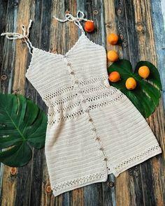 Mode Crochet, Diy Crochet, Crochet Crafts, Crochet Baby, Crochet Projects, Crochet Top, Crochet Tank Tops, Crotchet, Motif Bikini Crochet