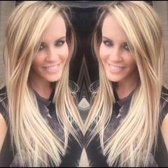 Julius Michael changed up Jenny Mccarthy's hair with #KenraColor! He used 8N with 7NB on her roots. He then went in with #SimplyBlonde and added some #balayage.