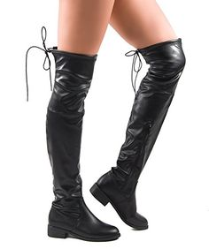 ROF #Women's #Fashion Comfy Vegan Suede Block Heel Side Zipper Thigh High Over the Knee Boots  #theladybuff #amazon.com