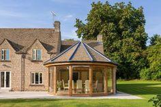 Garden Rooms & Conservatories - Welsh Oak Frame House Extension Design, Glass Extension, Extension Ideas, Garden Room Extensions, House Extensions, Kitchen Extensions, Conservatory Extension, Oak Framed Buildings, Oak Frame House