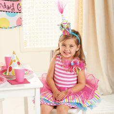 rainbows and stripes birthday dress