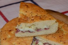 Vastedda cu sammucu, a traditional Sicilian focaccia stuffed with cheese and salami and perfumed with elderflowers