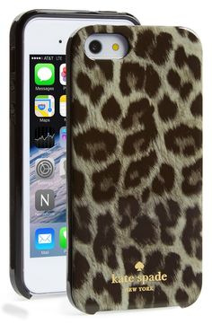 Taking a walk on the wild side with this Kate Spade leopard print iPhone case.