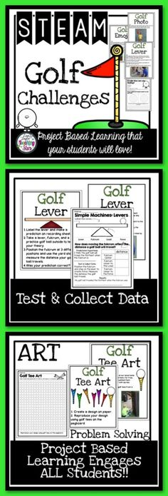 STEAM Golf Challenges is a set of activities for classrooms, Summer Library Programs, Maker Spaces, and After School Clubs. Your students will have fun learning with the theme golf!