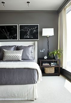 Love This Soothing, Grey Bedroom. Paint Color For Master Bedroom Benjamin  Moore ~ Kendall Charcoal