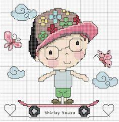 Cross Stitch For Kids, Cross Stitch Boards, Mini Cross Stitch, Pixel Art, Baby Motiv, Stitch Doll, Needlepoint Designs, Creative Embroidery, Plastic Canvas Crafts