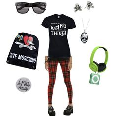 Weird Day by criketdawn on Polyvore featuring polyvore fashion style Humör Love Moschino King Baby Studio Bling Jewelry Vero Moda music gothic WERID LacunaCoil