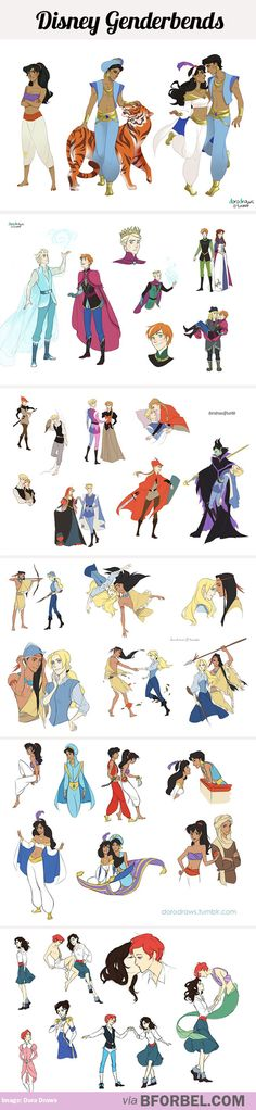Disney Genderbends…