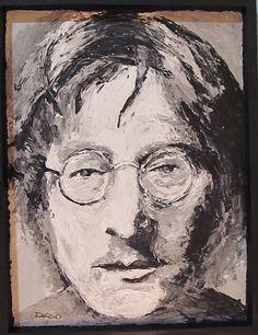 my hero John Lennon  a palette knife painting