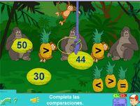 Comparaciones de números #numeros #numbers #repasar #profesores #teachers #gorilas #monos