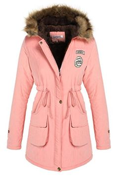 ANGVNS Women Winter Thicken Warm Hooded Packable Down Jacket Coat *** Click image to review more details.