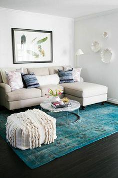 Setzen Sie auf helle Farben, damit der kleine Wohnraum größer wird!