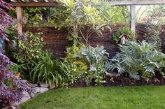 composting fence. love this. can make our reed fence look like this? at least sorta...