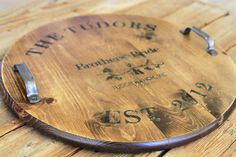 Lil Blue Boo shares how to make this striking vintage-distressed wine barrel-inspired tray.