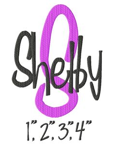 Shelby Machine Embroidery Font  Sizes 1234 BUY 2 by LilliPadGifts, $5.50