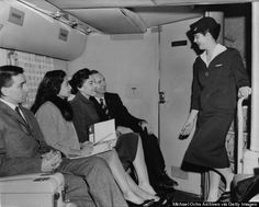 """Your flight attendant wore a girdle and had a weight limit.  Flying was an over-the-top luxury experience, and leggy, chatty """"hostesses"""" were part of the show. One stewardess recalls her airline's rule that she wear high heels at all times -- only after takeoff could she switch to flatter shoes. Hair had to be short enough so as not to touch her collar. A flight attendant manual mandated that stewardesses be single, stay under 125 pounds, and maintain """"high moral standards"""" during…"""