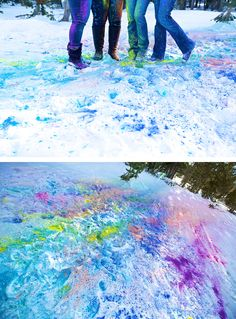 Color fight in the snow!!
