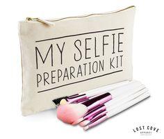 My Selfie Preparation Kit Makeup Bag Case Zip Make Up Gift Clutch Funny Celfie in Health & Beauty, Make-Up, Make-Up Cases & Bags | eBay
