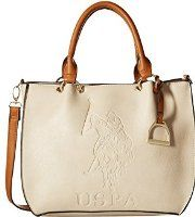 09da4a383c U.S. POLO ASSN. Women s Kingston Satchel Beige Satchel Branded Bags
