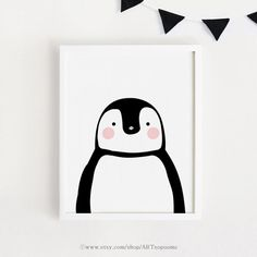 INSTANT DOWNLOAD - Baby Penguin printable Wall art Cute kids room decor poster Kawaii baby room art Decor print nursery art Digital file