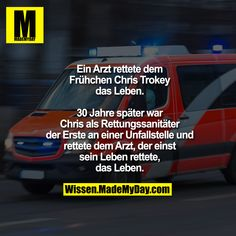 A doctor saved the life of the preemie Chris Trokey. - A doctor saved the life of the preemie Chris Trokey. Thirty years later, as a paramedic, Chris was - Funny Memes, Jokes, The Life, Aesthetic Pictures, Good To Know, Best Quotes, Fun Facts, Istp, Clever