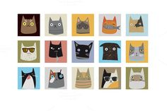 Cats.. by Darish on Creative Market