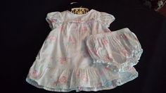 Baby Floral Summer Dress With Bloomers Two by frankiesfrontdoor, $25.00