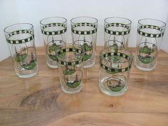 Alco Industries Lighthouse Glasses - Set of 7- Tumblers- Juice- Old Fashioned | eBay