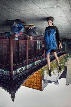 "Wow .... COOL .. How !?!?! .... Mind Blown .... Editorial de moda ""Fortune Cookie"", por Pinch Martin Tremblay #photography #DigitalArt"