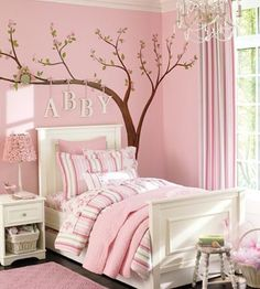Abby's pink bedroom