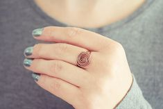 Copper Flower Ring   Wire Rose Ring   Copper Spiral Ring   Minimalist Ring   Non Tarnish Ring Free Ring, Be Your Own Kind Of Beautiful, Handmade Rings, Knuckle Rings, Big Flowers, Be True To Yourself, Everyday Outfits, Ring Designs, Are You The One