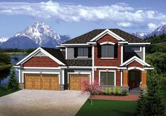 House Plan 73144 | Traditional Plan with 2223 Sq. Ft., 4 Bedrooms, 3 Bathrooms, 3 Car Garage at family home plans