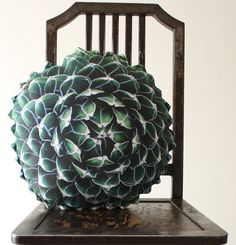 Spring Succulent decorative pillow made to order by Plantillo, $75.00