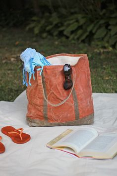 Gardenista, DIY Waxed Canvas Tote, finished--instructions for applying wax to a canvas bag. Neat!