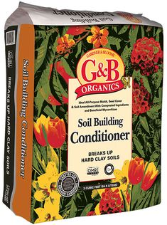 Gardner & Bloome Soil Building Conditioner - Helps break up clay soils, improves drainage, promotes healthy root growth & adds valuable micro-nutrients to the soil. Outstanding top mulch, as well.