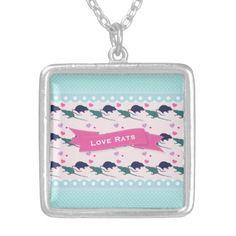 Love Rats Polka Dot Necklace - patterns pattern special unique design gift idea diy