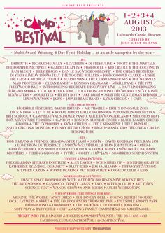 Campbestivalites! Let's go 'Around The World' at Camp Bestival 2013!