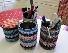crochet tin covers - pattern
