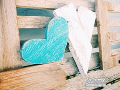 Items similar to Rustic LOVE Reclaimed Wood Home Decor with turquoise heart on Etsy