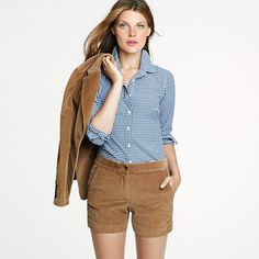 Perfect shirt in gingham, $45.  I might look a little too much like Frenchie if I wear this.  {J. Crew final sale}