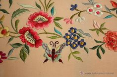 Antigüedades: - Foto 34 - 49825144 Floral Embroidery, Hand Embroidery, Rooster, Flowers, Murcia, Animals, Inspiration, Lace, Crafts